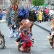 Постер, плакат: Aztec folklore in Zocalo Square Mexico City