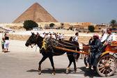 Egypte reizen foto's - de grote piramides in giza — Stockfoto