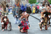 Aztec folklore in Zocalo Square, Mexico City — Stock Photo