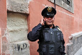 Mexican policeman — Stock Photo
