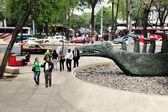 Paseo de la Reforma in Mexico City — Foto Stock