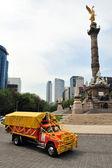 El ángel de la independencia en la ciudad de méxico — Foto de Stock
