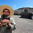 Stock Photo: Pyramids of Teotihuacan