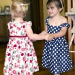 Little girls dancing — Stock Photo