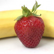Strawberry and banana — Stock Photo