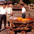 Stock Photo: Hindu Cremations at Pashupatinath Temple in Kathmandu Nepal