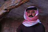 Jordanian man wearing red Keffiyeh — Stock Photo