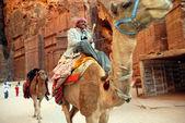 约旦哈希姆王国在佩特拉 — 图库照片