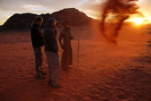 Wadi Rum in the Hashemite Kingdom of Jordan — Stock Photo