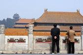 запретный город в пекине китай — Стоковое фото