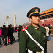 Security in Tiananmen square in Beijing China — Stock Photo
