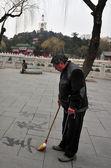 De tempel van de witte pagode in beijing china — Stockfoto
