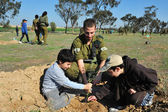 Israelis Celebrate The Jewish Holiday of Tu Bishvat — Stock Photo