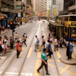 Busy street in Hong Kong, China — Stockfoto