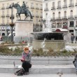 Poverty in Madrid Spain. - Stock Photo