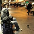Street performer in Madrid Spain — Stock Photo