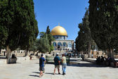 Temple Mount and Dome of the Rock in Jerusalem Israel — Stock Photo