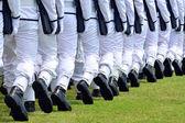Army parade — Stock Photo