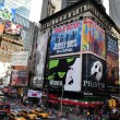 Time Square in Manhattan New York - Stock Photo