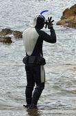 跳水运动 — 图库照片