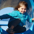 Little girl in playground — Stock Photo