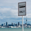 Bus Lane Sign — Stock Photo