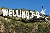 Wellington sign — Stock Photo