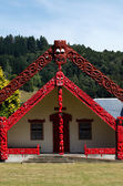 Maori Marae - Meeting House — Stock Photo