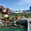 Wellington waterfront lagoon - Stock Photo