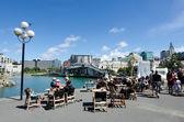 Wellington waterfront lagoon — Stock Photo