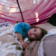 Childhood - Camping tent — Stock Photo