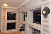 Luxury home wine cellar — Stock Photo