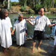 Baptism ceremony at the Jordan River - ストック写真