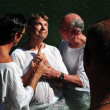 Baptism ceremony at the Jordan River - Stock fotografie