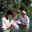 Stock Photo: Baptism ceremony at JordRiver
