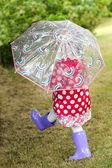 Dziewczynka z parasolem — Zdjęcie stockowe