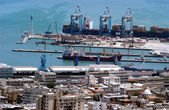 Port of Haifa - Israel — Stock Photo