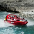 Jet Boat in Queenstown New Zealand - Stock Photo