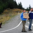 Hitchhiking in New Zealand — Stock Photo