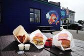 Vis en chip winkel in nieuw-zeeland — Stockfoto