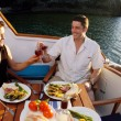 Romantic couple on yacht — Stock Photo #24753851