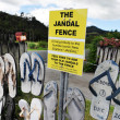 Stock Photo: Iconic Jandal Fence - New Zealand