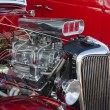 1936 Red Ford in a Classic Car Show — Stock Photo