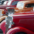 Постер, плакат: 1936 Red Ford in a Classic Car Show