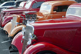 1936 Red Ford in a Classic Car Show — Stockfoto