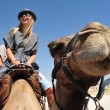 Stock Photo: camel ride and desert activities in the judean desert israel
