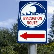Tsunami evacuation route sign — Stock Photo #25506529