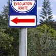 Tsunami evacuation route sign — Stock Photo #25506539