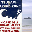 Stock Photo: Tsunami evacuation route sign