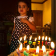 Stock Photo: Little girl birthday party